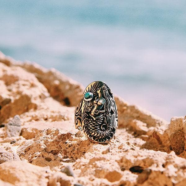 Ocean Goddess Ring :: Brass
