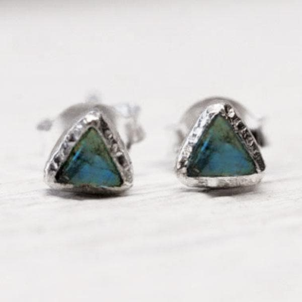 Shrine Pyramid Earring :: Labradorite