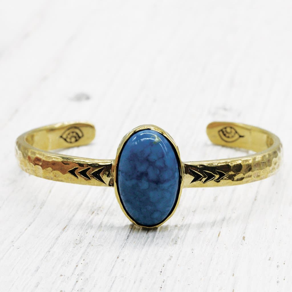 Heirloom Cuff :: Periwinkle Opal