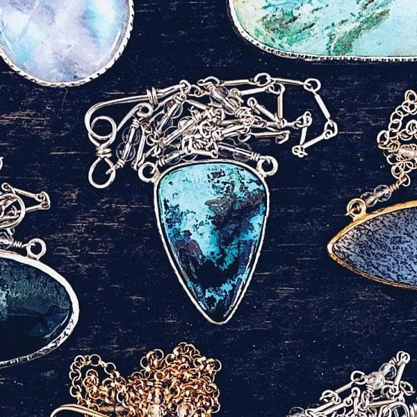 Silver Shattuckite Necklace