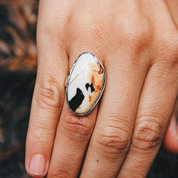 Petrified Driftwood Ring