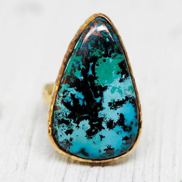 Gold Shattuckite Ring