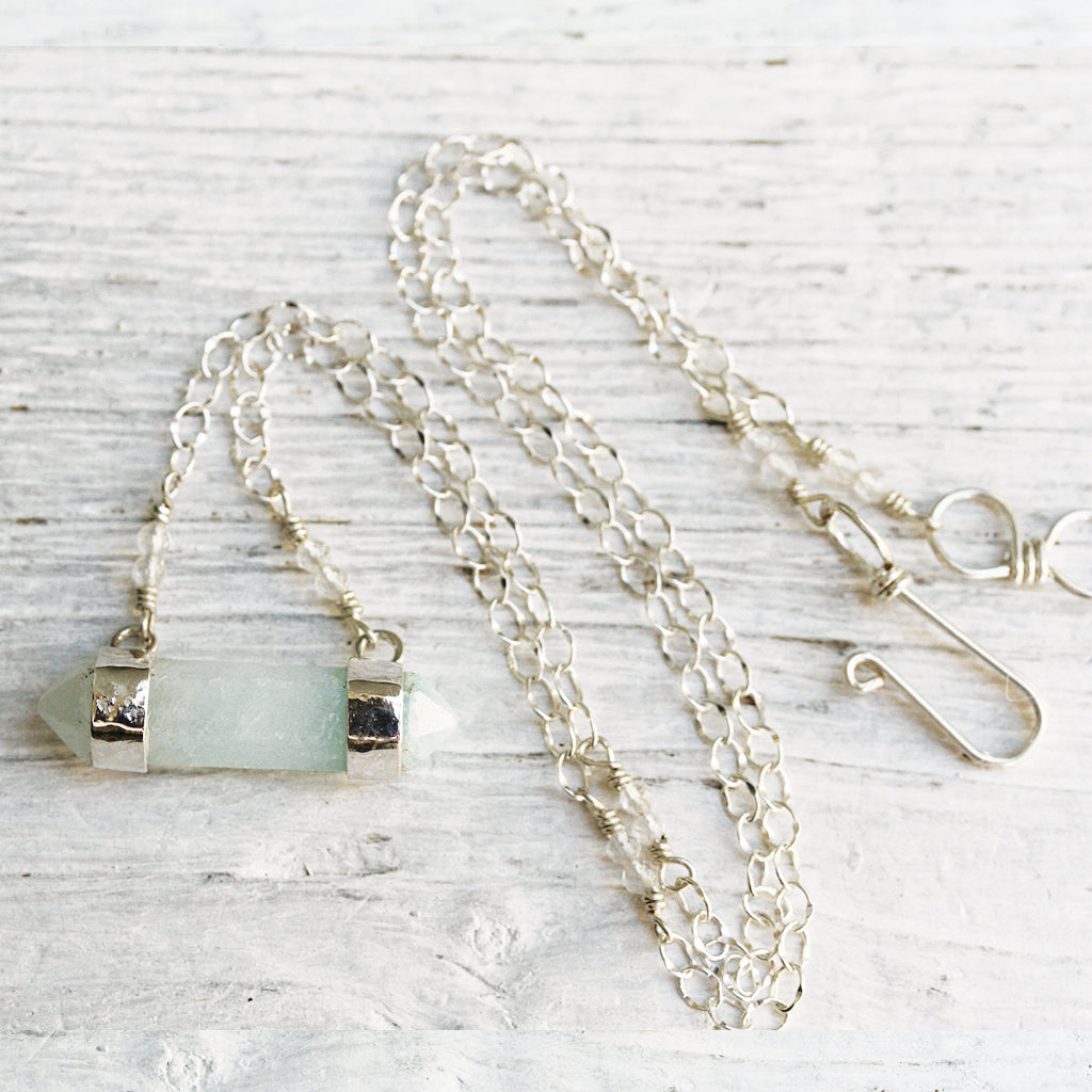 Chalcedony Wand Necklace