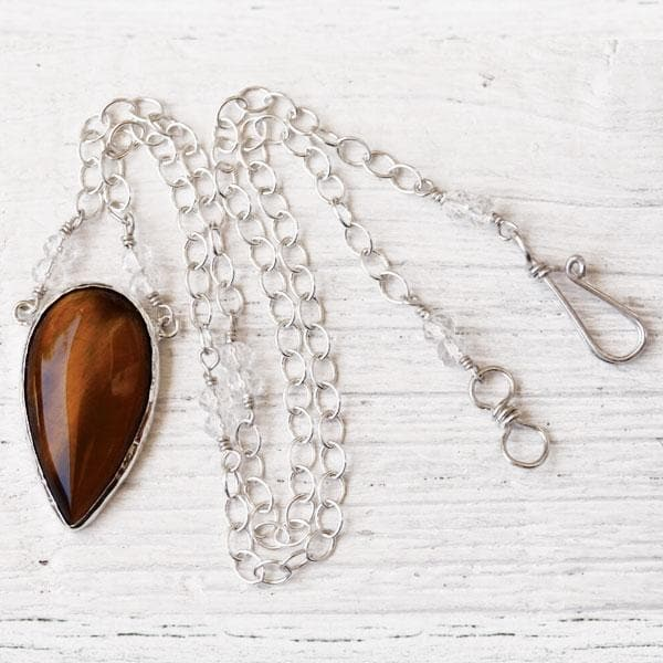 Tigers Eye Necklace :: Silver