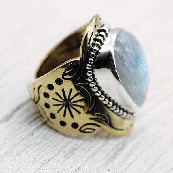 Spirit Ring :: Moonstone Tear
