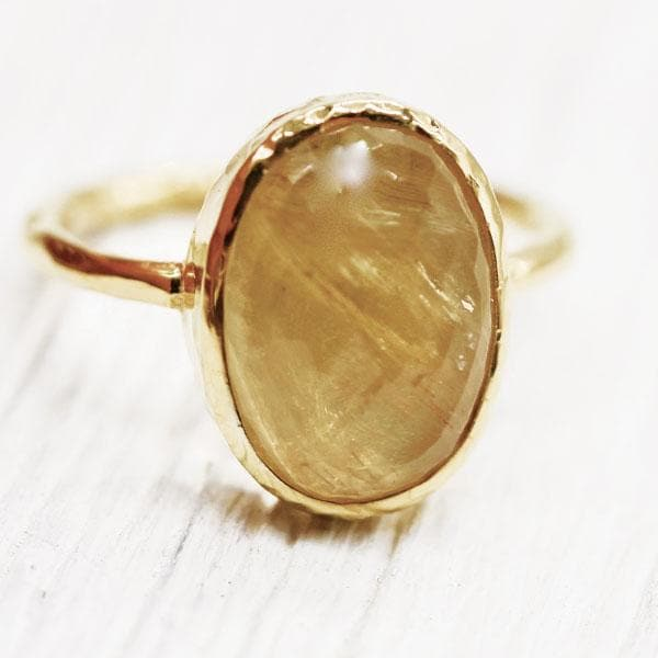 Citrine Elfin Ring