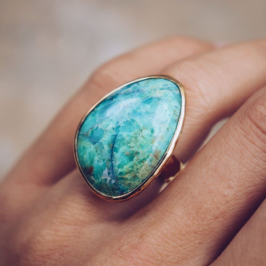 Myrtle Chrysocolla Ring