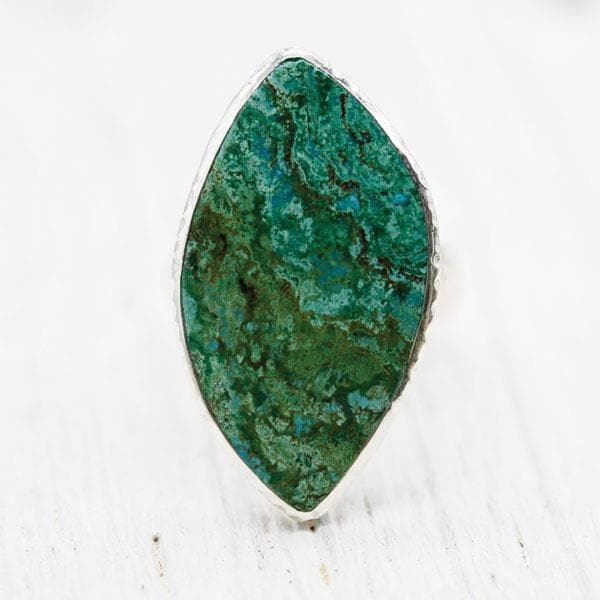 Parrot Wing Chrysocolla Ring