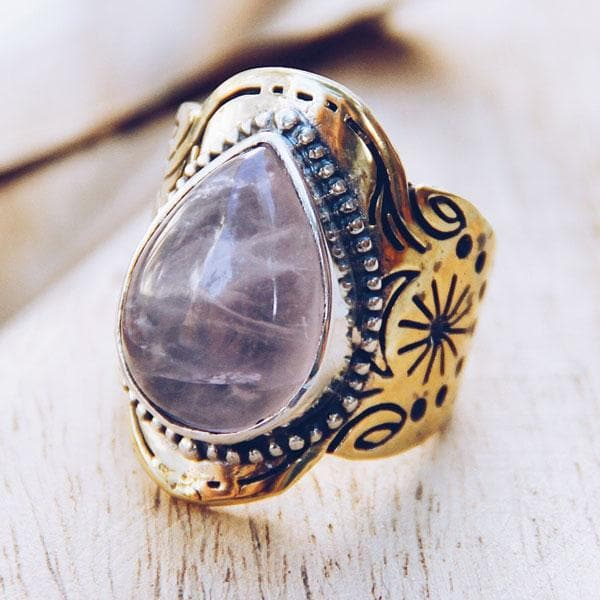 Spirit Ring :: Rose Quartz