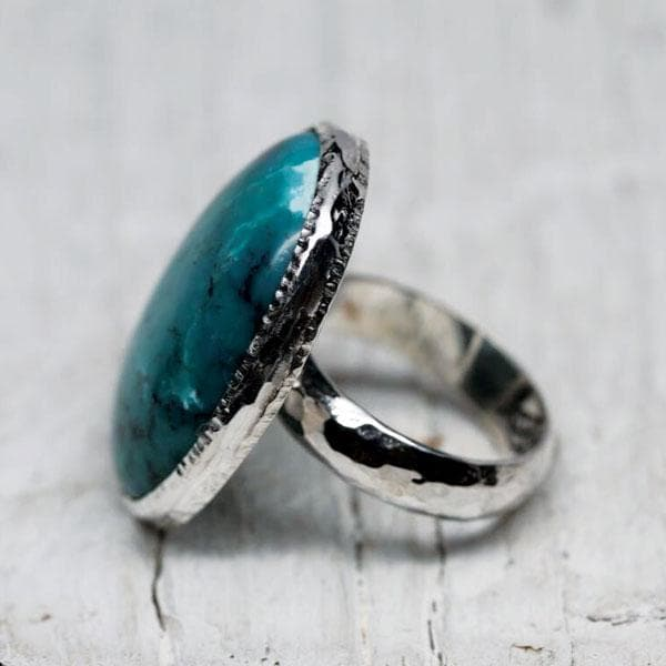 Silver AZ Turquoise Ring
