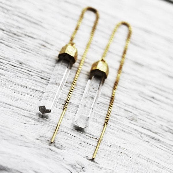 Crystal Threader Earrings :: See more colors