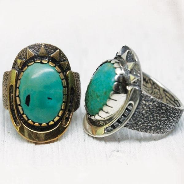 Mens Good Karma Ring - Turquoise