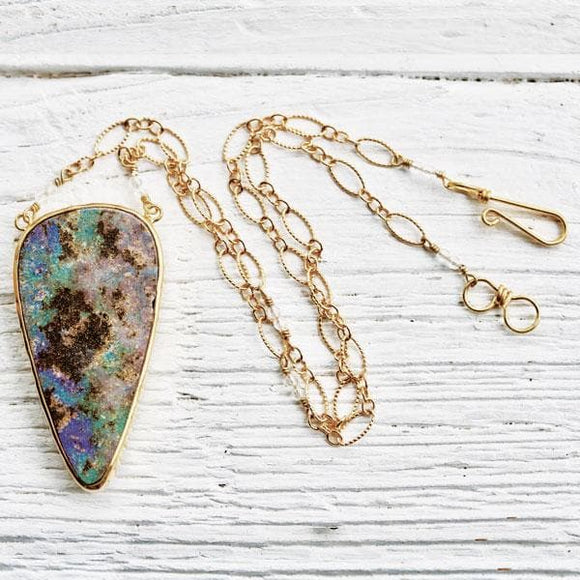 White Cliff Opal Necklace