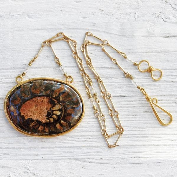 Mineralized Ammonite Necklace