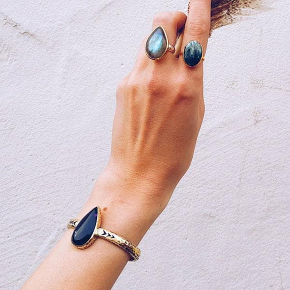 Heirloom Cuff ||Midnight AMETHYST