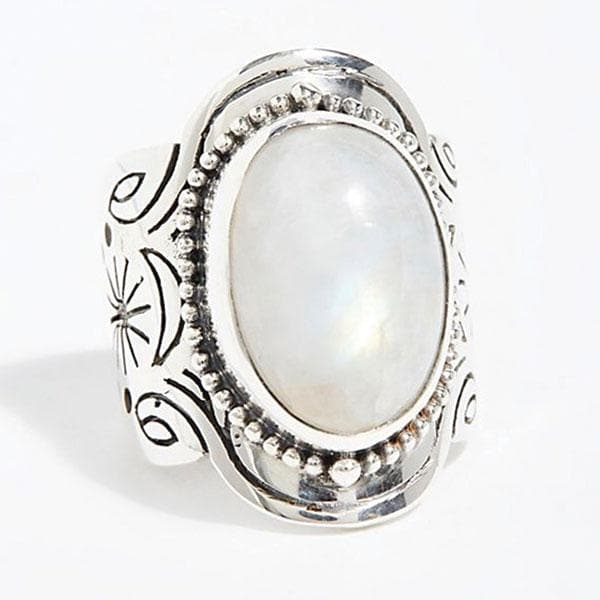 Spirit Ring :: Moonstone Oval