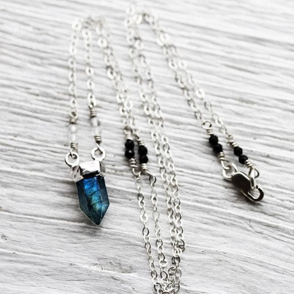 Labradorite Wand Necklaces :: See more colors