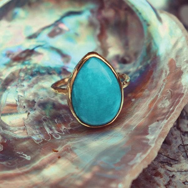 Amazonite Elfin Ring