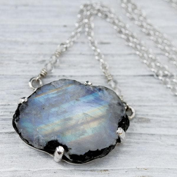 Raw Moonstone Necklace - PRE ORDER