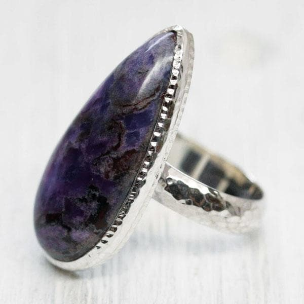 Silver Sugilite Ring