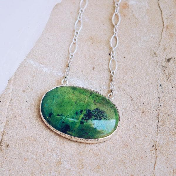 Parrot Wing Chrysocolla Necklace