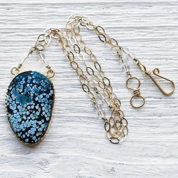 Gold Turquoise  NW Necklace