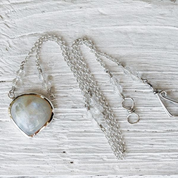 Moonstone Drop Necklace :: view more colors