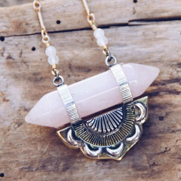 Guardian Necklace :: Rose Quartz