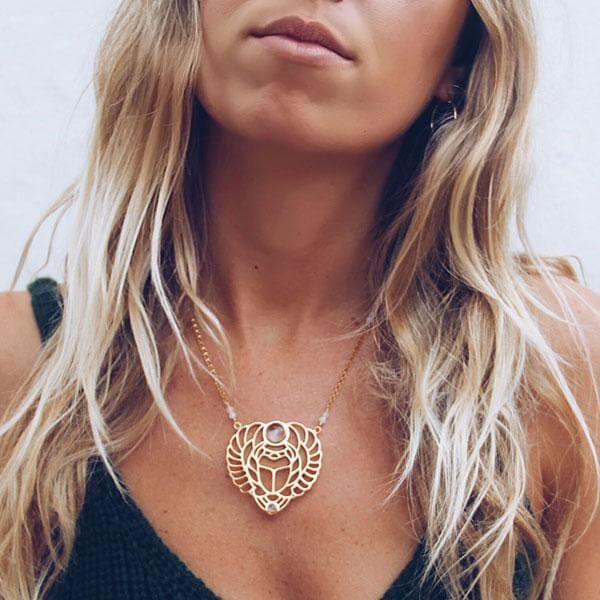 Scarab Necklace :: Gold