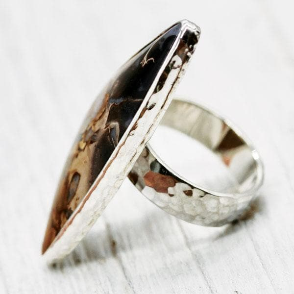 Petrified Palm Wood Ring