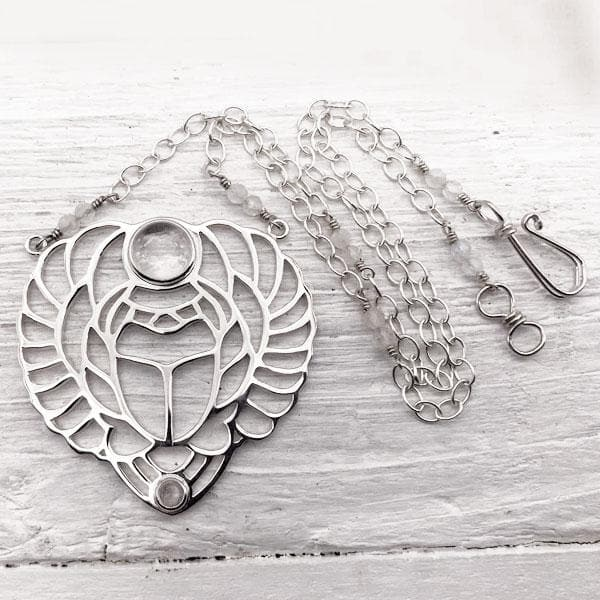 Scarab Necklace :: Silver