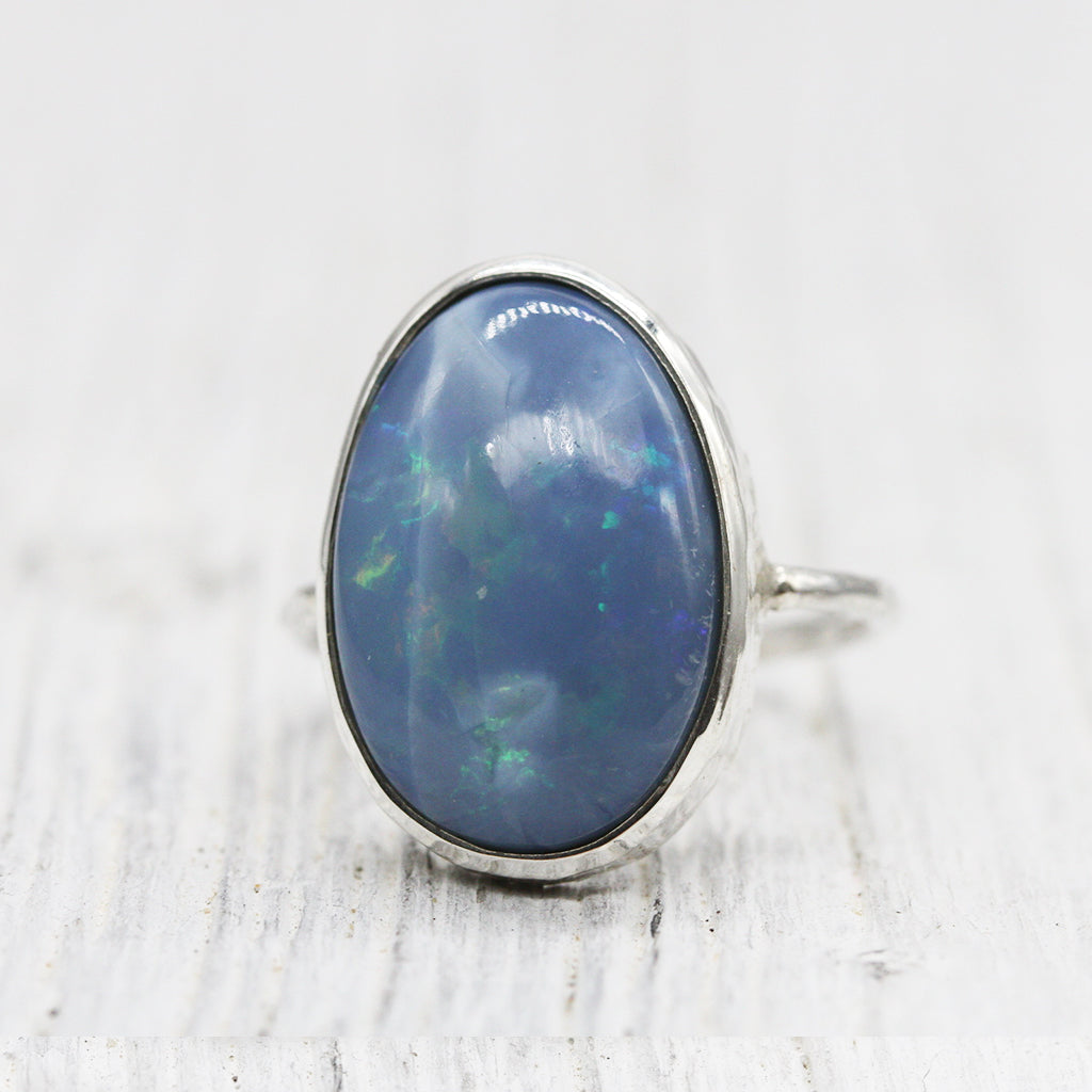 Hummingbird Opal Elfin Ring