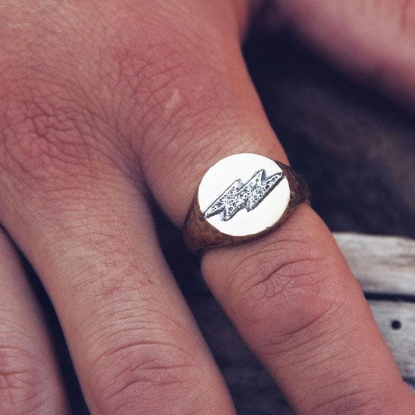 Mens Lightening Ring