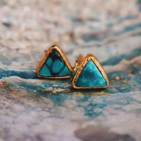 Shrine Pyramid Earring :: Turquoise