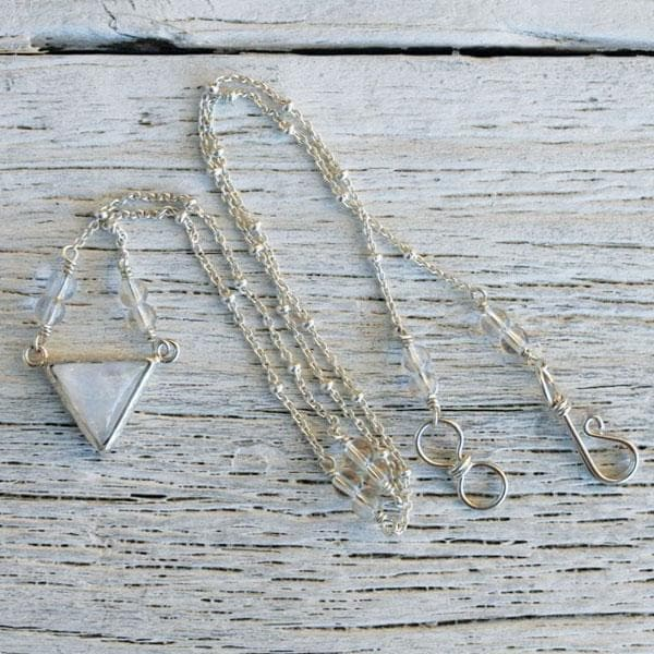 Moonstone Pyramid Necklace