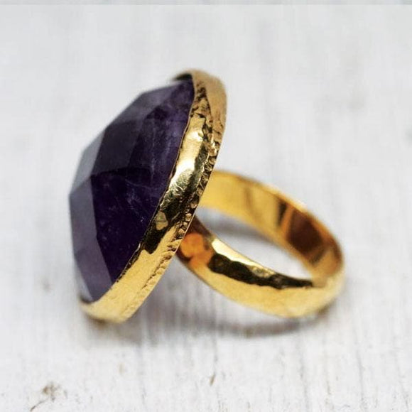 Silver & Gold Amethyst Ring