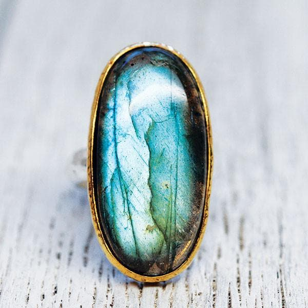 Rainbow Labradorite Ring