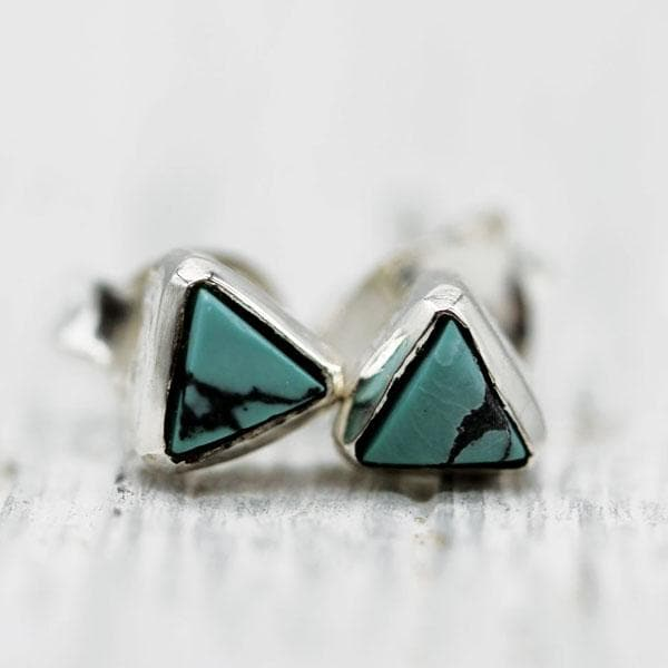 Petit Pyramid Earring : Turquoise