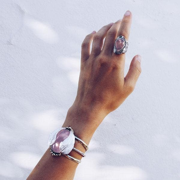 Kinship Cuff :: Rose Quartz