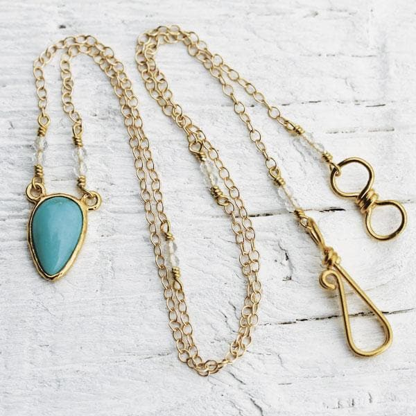 Turquoise Necklace :: Gold Petit Tear