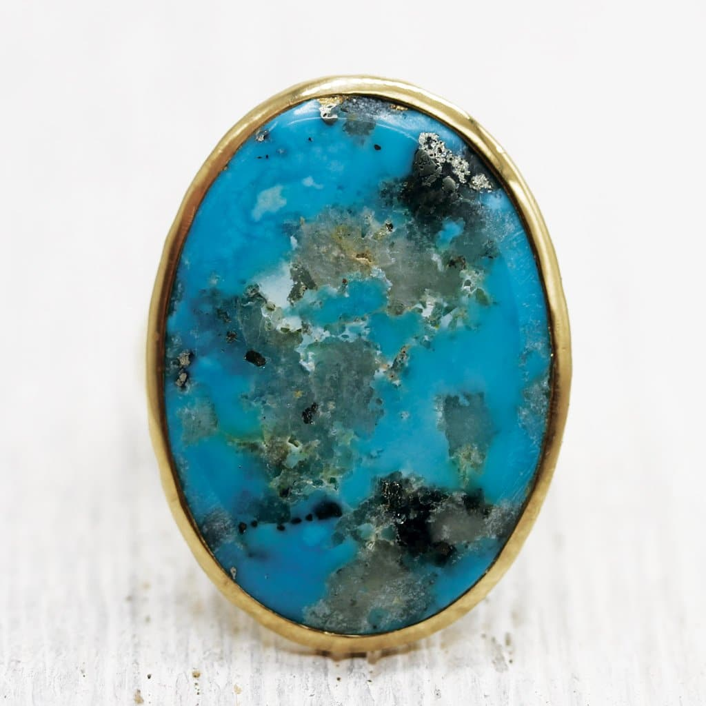 Lunar Chrysocolla Ring