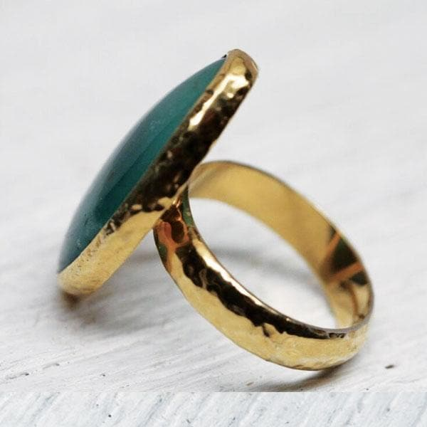 Gold Gem Silica Ring