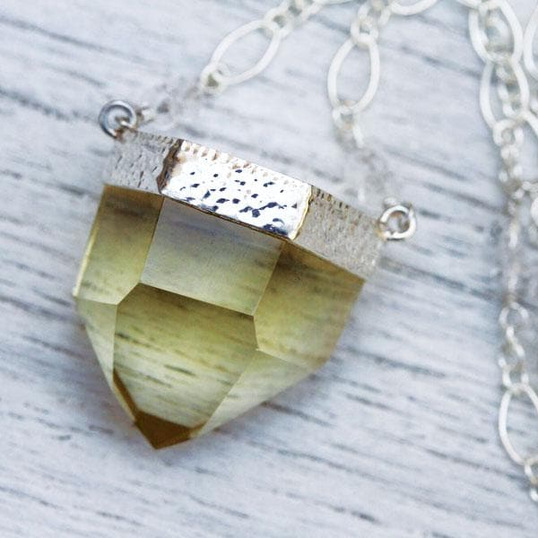 Silver Citrine Necklace