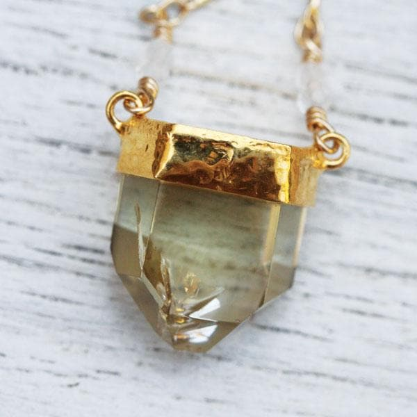 Citrine Wand Necklace
