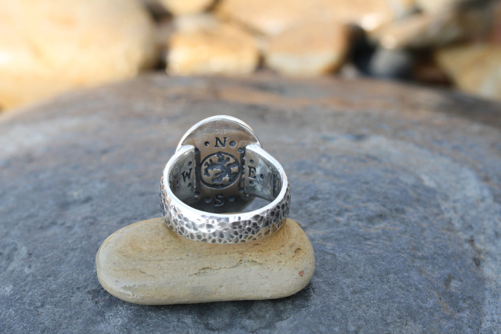 Redesigned Mens Earth Ring Labadorite (sterling silver)