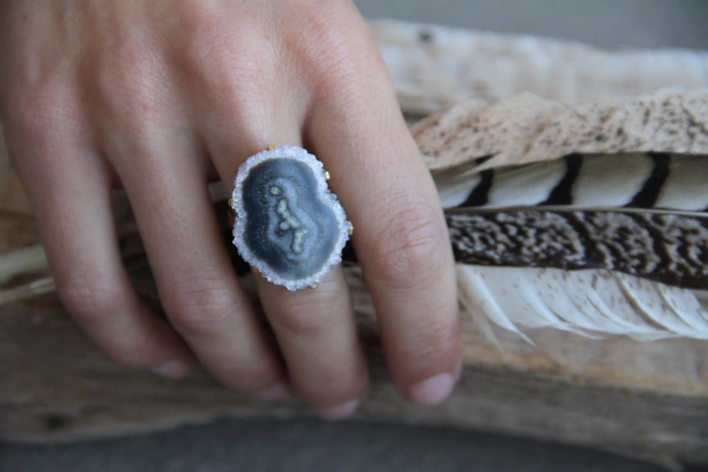 Smoky Stalactite Ring