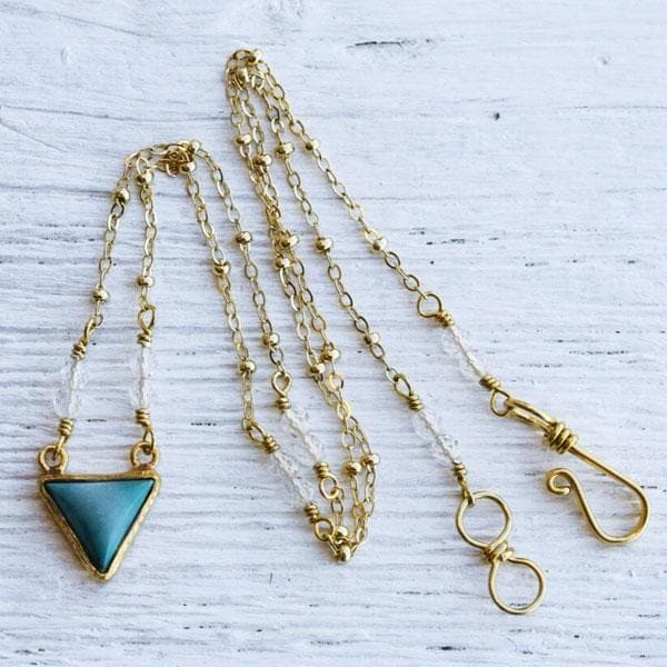 Turquoise Pyramid Necklace  :: view more colors