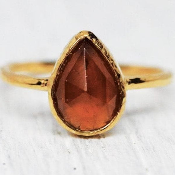 Cinnamon Stone Ring : Tear