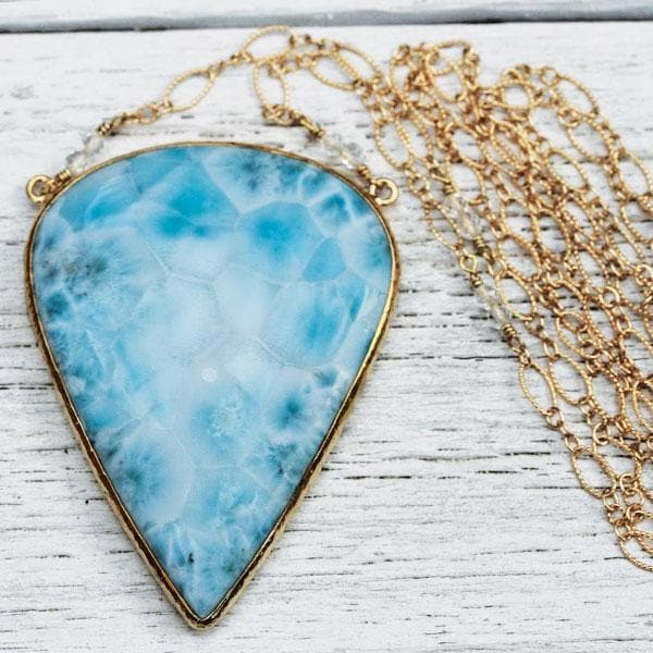 Grand Larimar Necklace