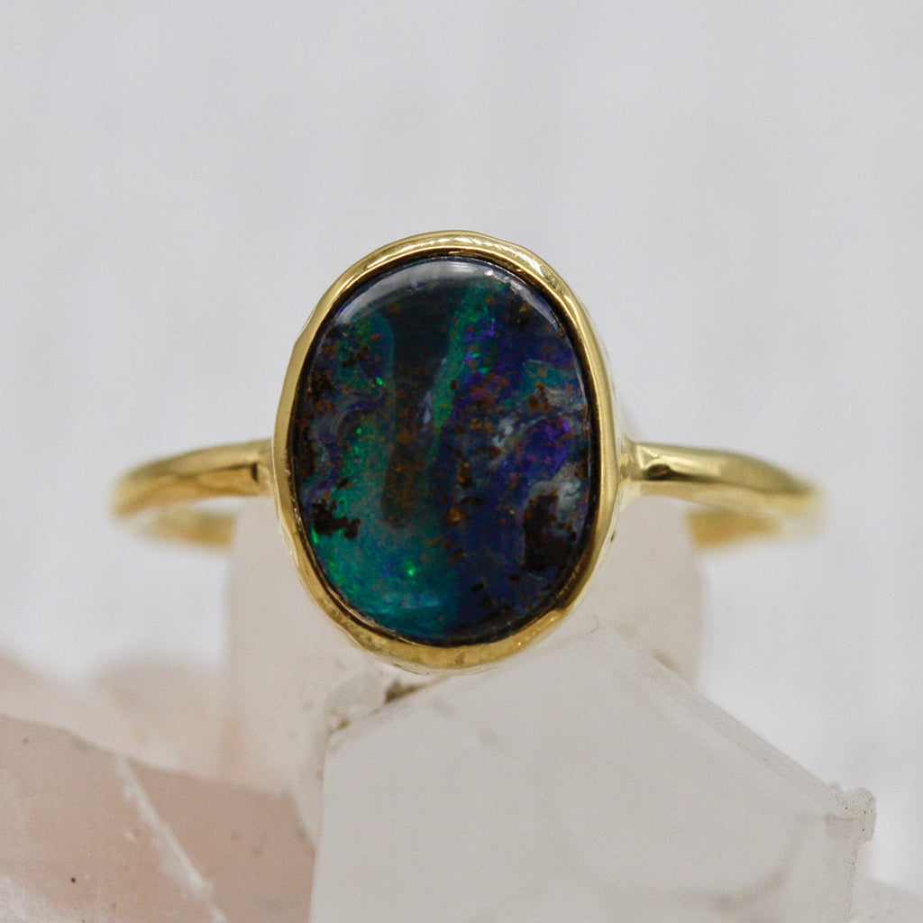 Lightning Ridge Opal Elfin Ring